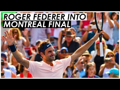 ROGER FEDERER INTO MONTREAL ROGERS CUP FINAL 2017 🎾 ROGER FEDERER VS ROBIN HAASE MONTREAL SEMI-FINAL