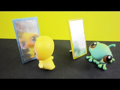 How to make a balsa wood mirror for your lps or your fashion doll - EP - simplekidscrafts