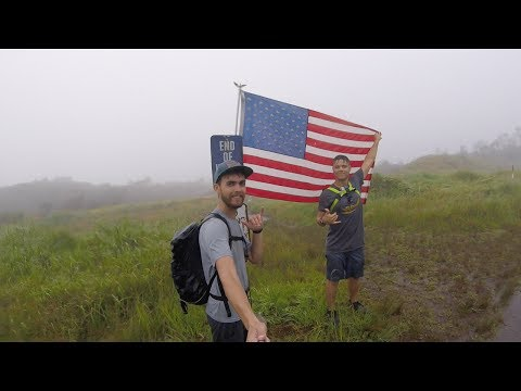 Climbing The Tallest Mountain On Oahu in a storm (Mount Ka
