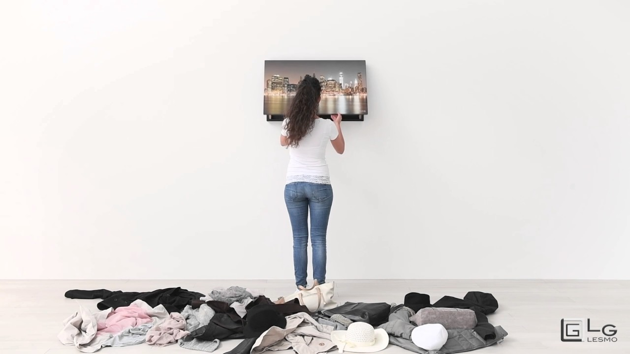 Tavolo Allungabile Lg Lesmo.Wall Folding Clothes Hanger Fold N Flip Lg Lesmo Youtube