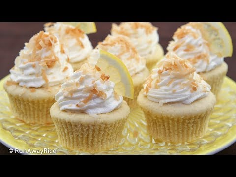 Luscious Lemon Coconut Cupcakes