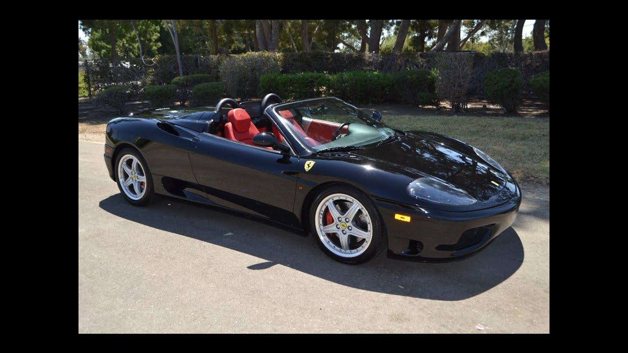Sold 2004 Ferrari F360 Spider F 1 Convertible Black For