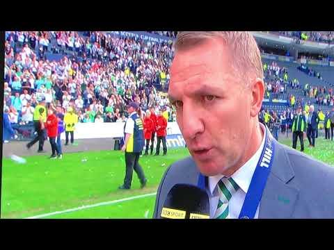 Brendan Rodgers Interview Double Treble Winners 2018