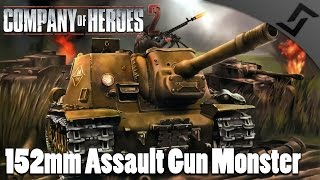 152mm Assault Gun Monster - Company of Heroes 2 Spearhead Gameplay