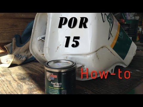 "POR 15 Gas Tank Sealer ""How-to Seal a Gastank"""