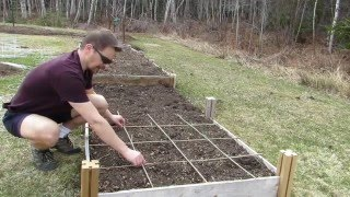 Making Bamboo Grids for Square Foot Gardening