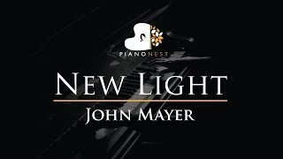 Download Lagu John Mayer - New Light - Piano Karaoke / Sing Along / Cover with Lyrics Mp3