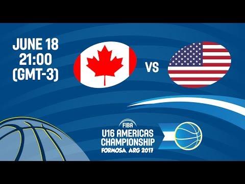 Canada vs United States - Final - FIBA U16 Americas Championship 2017