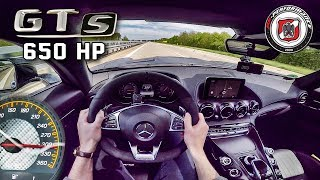 Mercedes AMG GT S 650 HP AUTOBAHN POV 309 km/h PP Performance by Au...