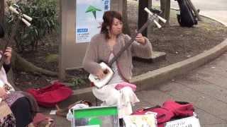 へブンアーティスト 津軽三味線 輝&輝 2012.2.26 @上野公園.