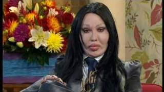 Pete Burns with his new look on This Morning - 21st September 2010