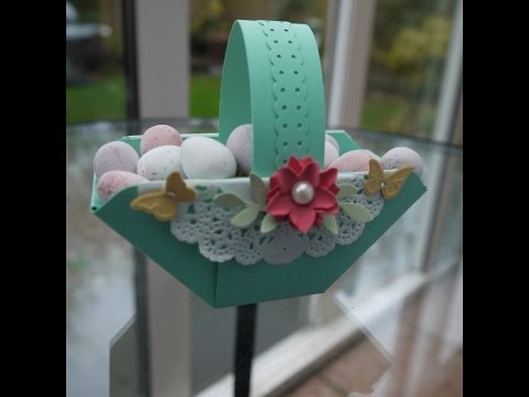 Easter Basket made with the Envelope Punch Board