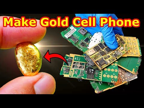 How To Turning Old Cell Phone Into Pure Gold Make Gold From Scrap Mobile Phones Smartphones Recovery