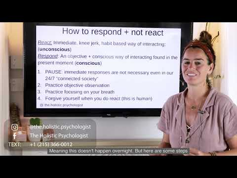 Life-changing Skill: How to Respond rather than React