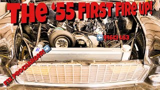 The '55 Resurrection Part 7: F1x Procharger 416ci LS3 FIRST FIRE UP!!!