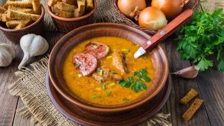 197# Гороховый Суп-Пюрe c колбасой. Голландский рецепт.