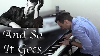 And So It Goes - Billy Joel Piano Cover by Jonny May