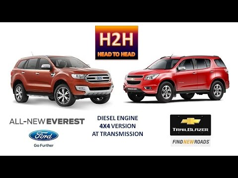 H2H 30 All New Ford Everest vs Chevrolet Trailblazer  YouTube
