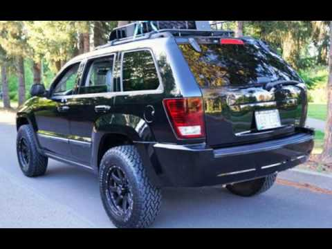 2007 jeep grand cherokee limited 4x4 lifted ae black wheels for sale in milwaukie or youtube. Black Bedroom Furniture Sets. Home Design Ideas