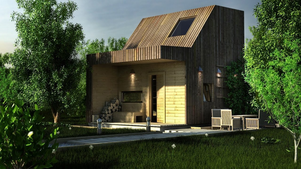 lumion 3d animation cabin by the lake architectural