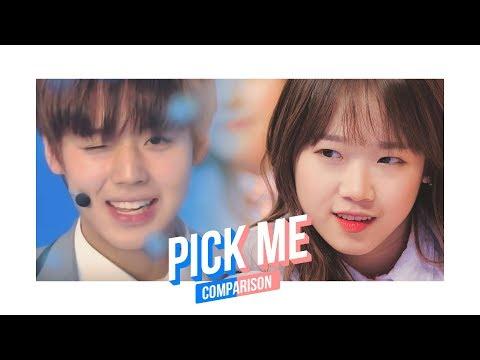 Pick Me Ver.1 Produce 101 Season 1 & 2 Comparison