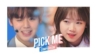 Pick Me Ver.1 Produce 101 Season 1 & 2 Comparison