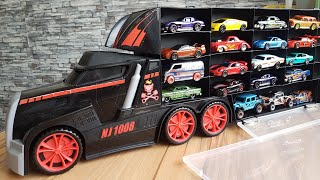 Toy Cars Transportation by Truck Hot Wheels Cars Video for Kids