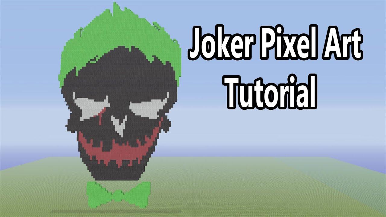 minecraft joker suicide squad logo pixel art tutorial. Black Bedroom Furniture Sets. Home Design Ideas