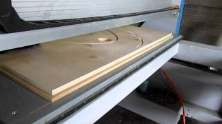 CNC Router Cutting Sub-Base and Rail For An Ellipse Poker Table