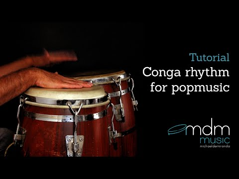 Conga rhythm for popmusic - Free lesson