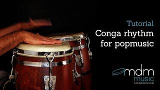 Conga rhythm for popmusic - Free lesson