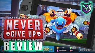 Never Give Up Nintendo Switch Review-HARDEST PLATFORMER? (Video Game Video Review)
