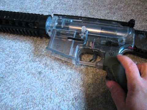 Clear plastic airsoft DSG