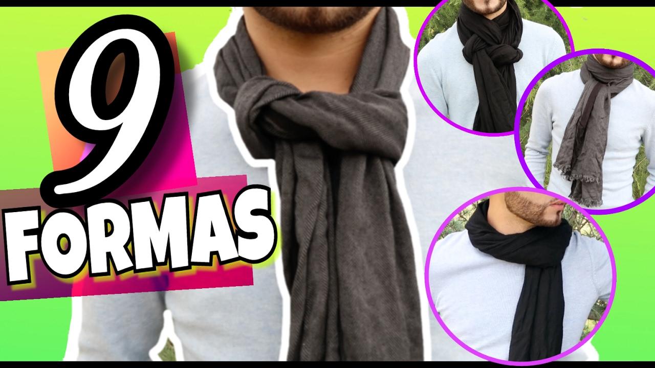 Como Usar Una Bufanda Amarrar Bufandas De Diferentes Maneras Moda Masculina Youtube
