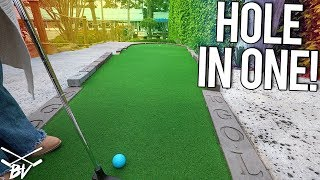 I CAN'T BELIEVE DAD GOT THAT MINI GOLF HOLE IN ONE!