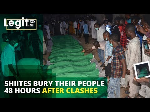 Shiite prepare to bury their members 48 hours after clash with security forces