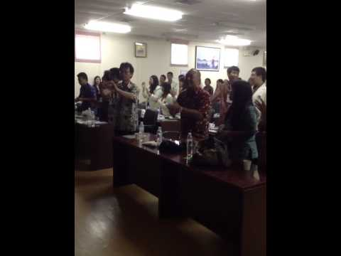 Indonesian song for Thai student of Christian University of Thailand