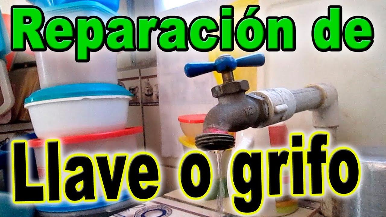 C mo reparar una llave o grifo que gotea youtube for Como arreglar una llave de ducha que gotea