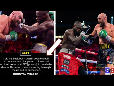 """EPIC: DEONTAY WILDER RESPONDS TO KNOCKOUT LOSS GIVES TYSON FURY CREDIT ! """"I GAVE EVERYTHING I HAD"""" 
