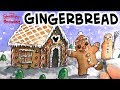 Live painting & drawing a Gingerbread House and Person Christmas Scene