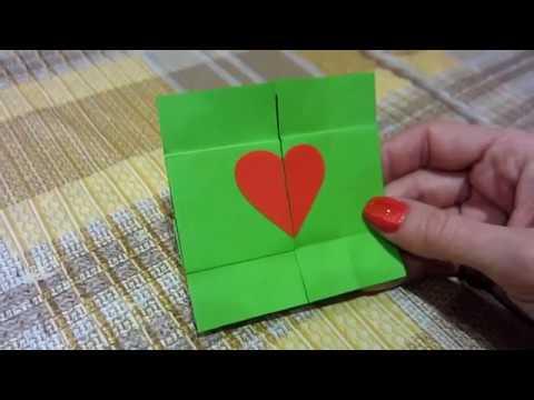 DIY : Paper Card 8 MARCH***Открытка на 8 МАРТА МАМЕ***Как Сделать Бесконечную Открытку