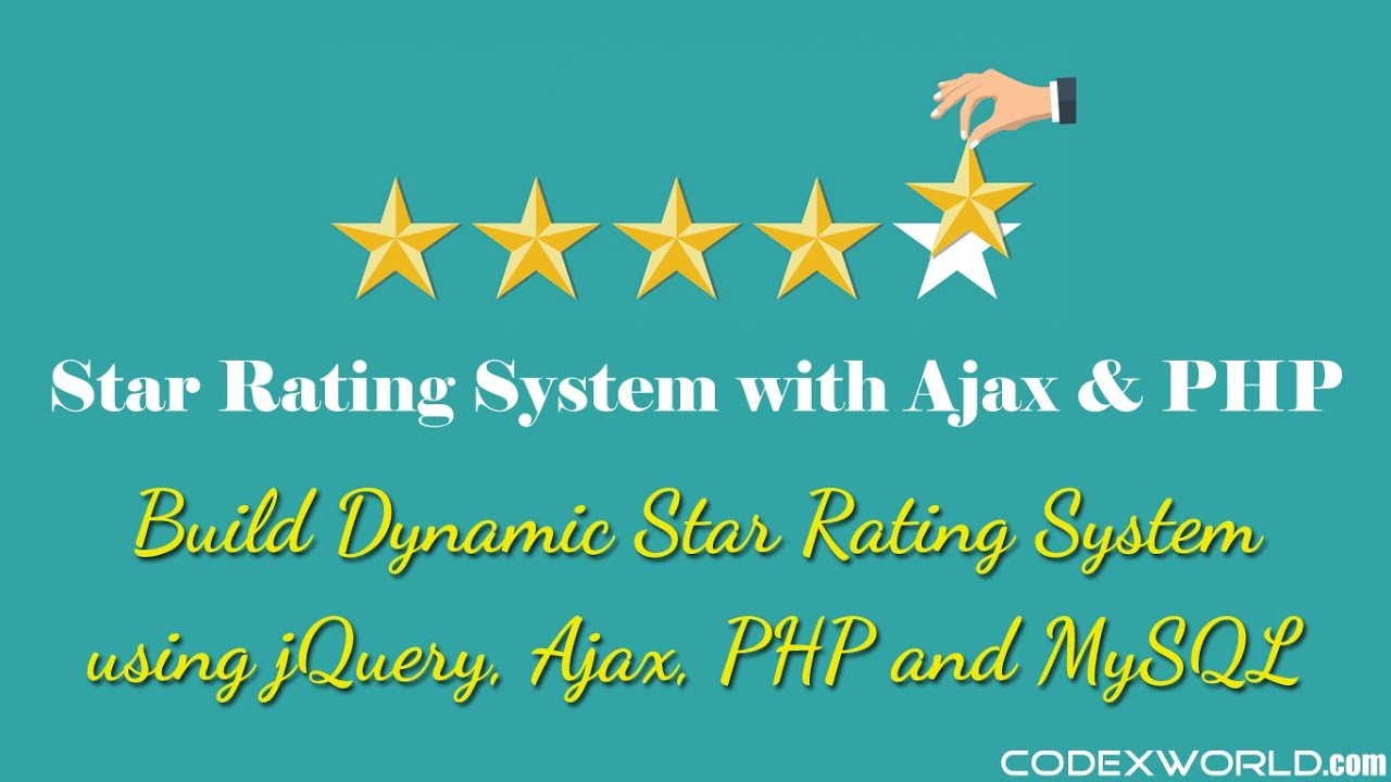 Star Rating System with jQuery, Ajax, PHP and MySQL - CodexWorld