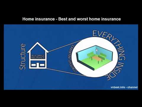 Home insurance Best and worst home insurance