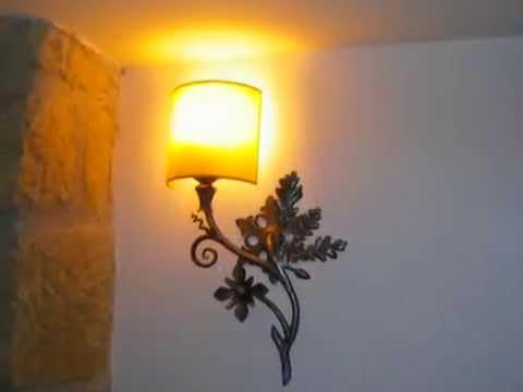 L mparas y apliques de forja artistica tof zarraton la rioja youtube - Apliques y lamparas ...
