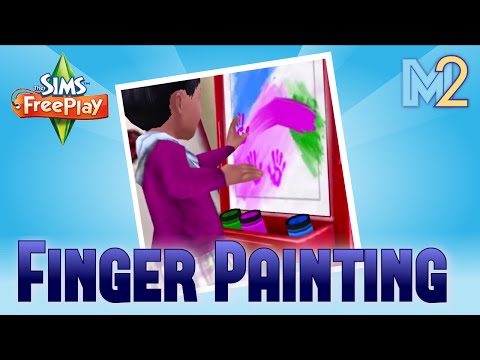 Sims FreePlay - Finger Painting Hobby (Tutorial & Walkthrough)