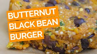 Spicy Butternut Squash & Black Bean Burger Recipe