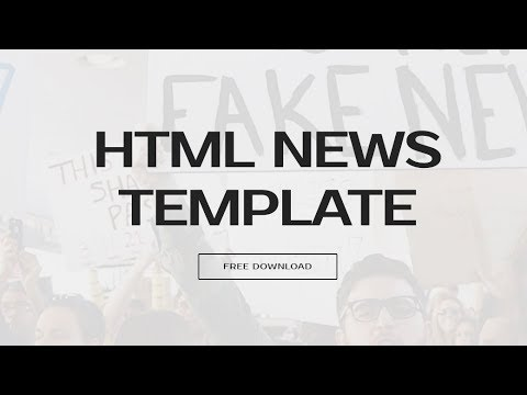 Bootstrap News Template - Free HTML Website Templates