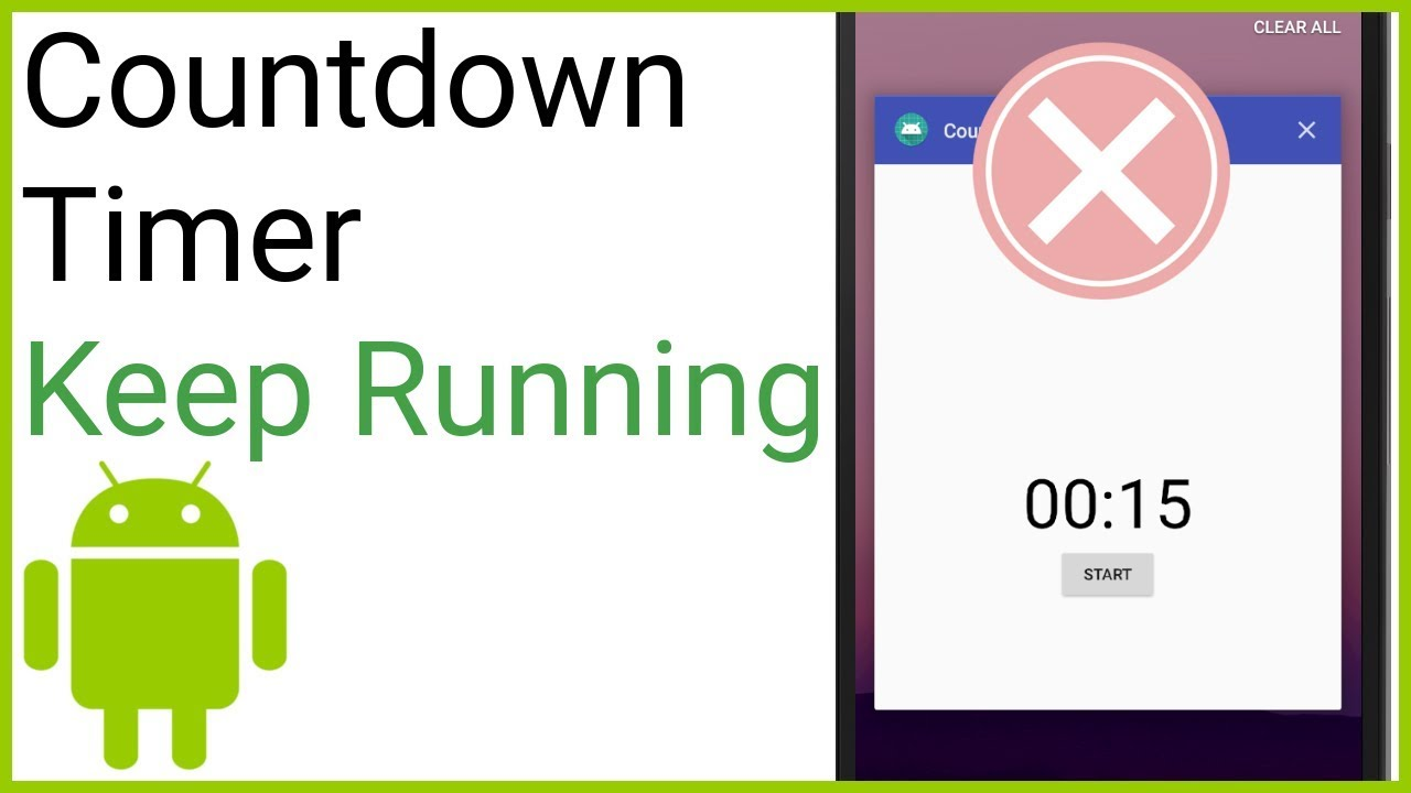 Countdown Timer Part 3 - KEEP TIMER RUNNING WHEN CLOSING THE APP (NO  SERVICE)