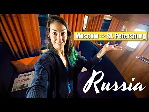 First Class Overnight Train | Moscow to St. Petersburg
