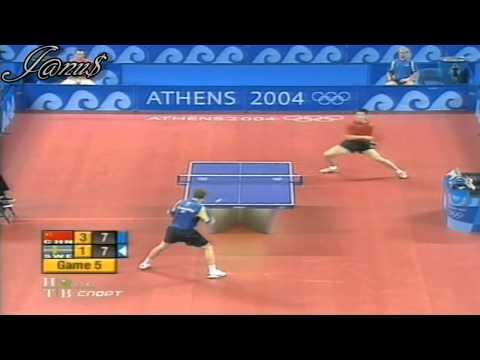 2004 Olympics (ms-3rd place) WANG Liqin - WALDNER Jan Ove [sets 4th(half) & 5th / Short Form]
